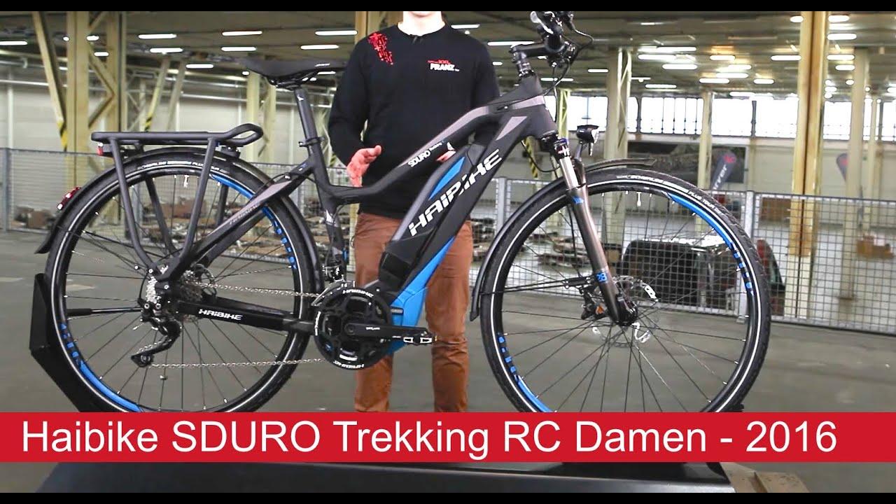 42ee90d193f Haibike SDURO Trekking RC Damen - 2016 - YouTube