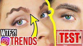 CRAZY INSTAGRAM BEAUTY TRENDS & HACKS im LIVE TEST! 😵😂 Neue Hacks für perfekte Augenbrauen?