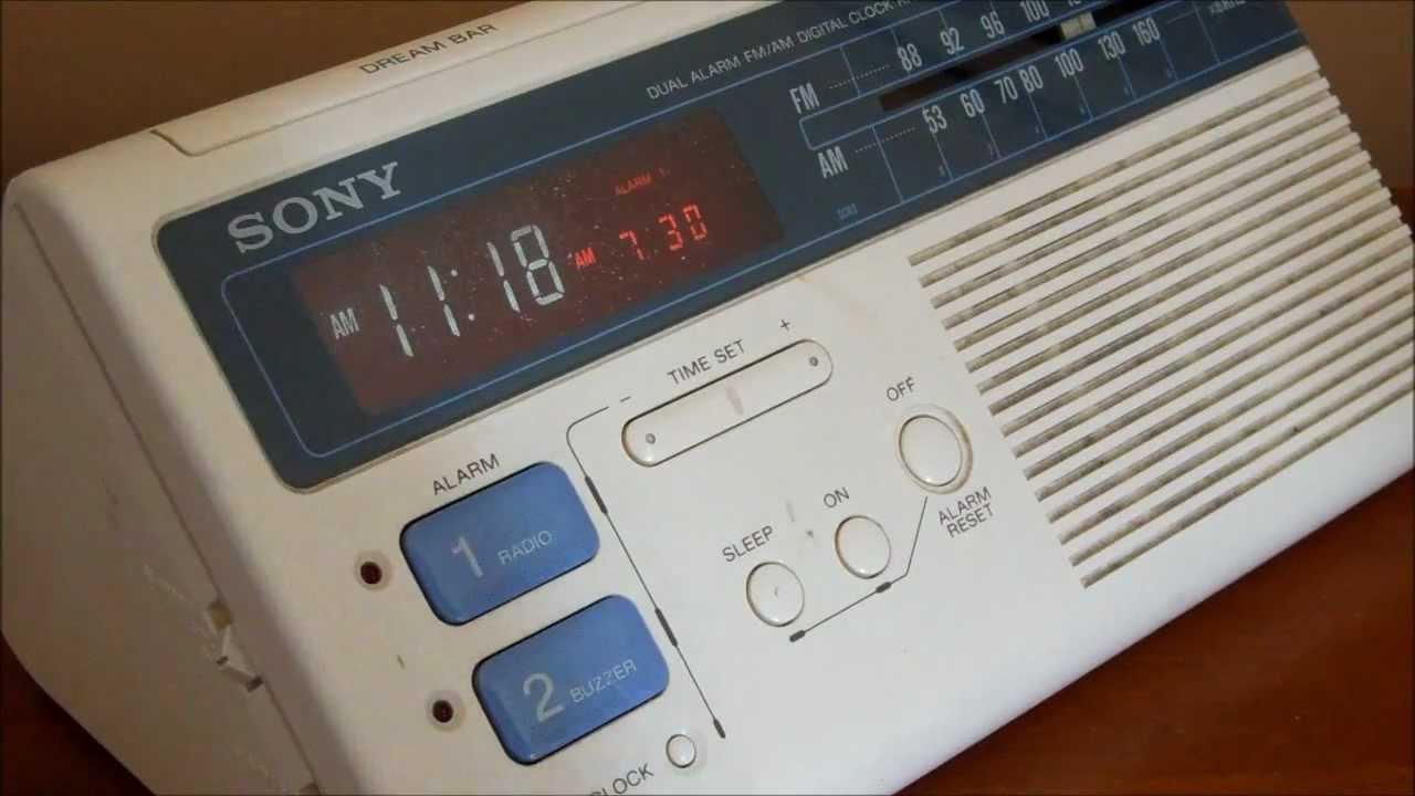Sony Dream Machine Clock Radio Demo ICF-C221W vintage ...