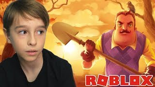 ROBLOX: PLAYING HELLO NEIGHBOR | Family playing