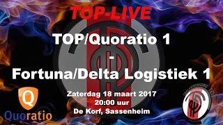 TOP/Quoratio 1 tegen Fortuna/Delta Logistiek 1, zaterdag 18 maart 2017