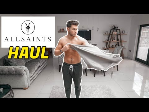 HUGE All Saints Men's Clothing Haul & Try-On | Men's Fashion 2020