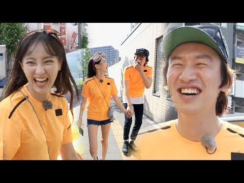 정혜성♥이광수, 도쿄 한복판 과감한 스킨십 '핑크빛 커플' 《Running Man》런닝맨 EP487