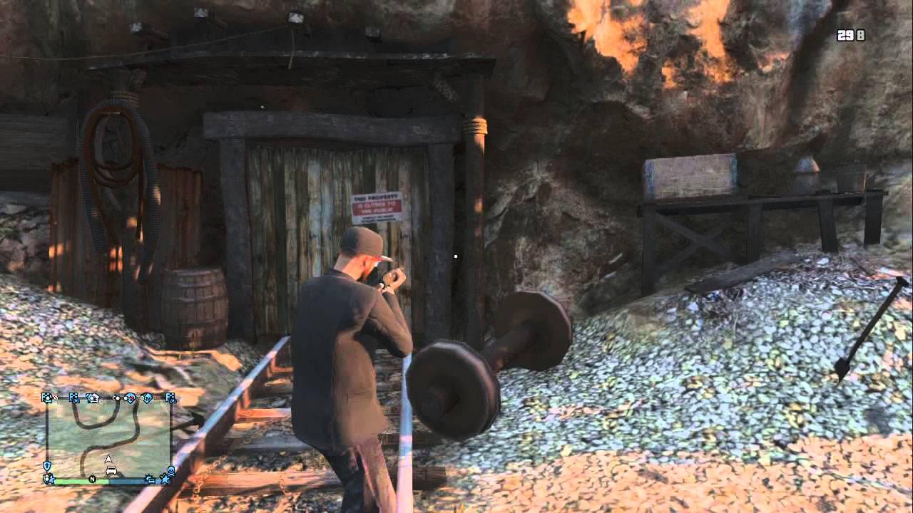 Gta 5 Hiddenabandon Mine Shaft Xbox 360 Youtube