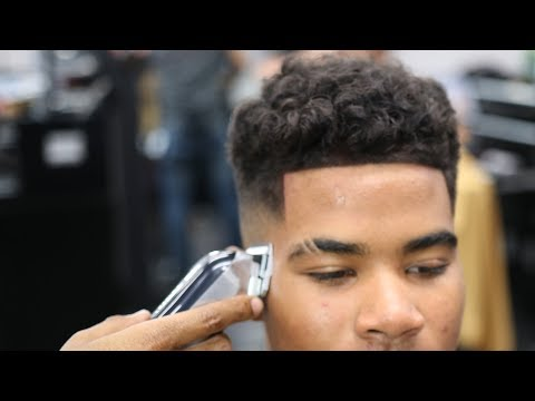 BARBER TUTORIAL: CURLY TOP | TIGHT MID FADE