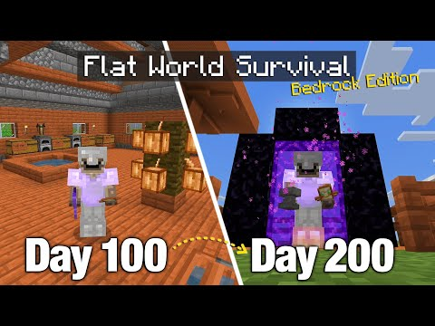 I Survived 200 Days on a Flat World with Nothing but... a Bonus Chest