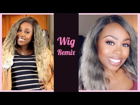 Wig Remix | How to dye your Synthetic Wig Gray | Under $10!!