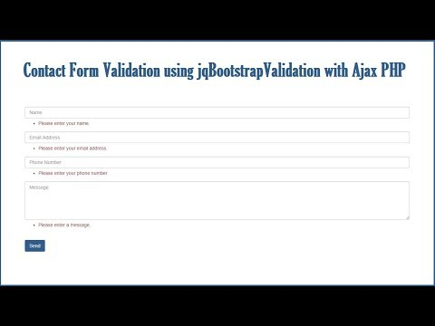 How to use jqBootstrapValidation for Validate Form with Ajax PHP