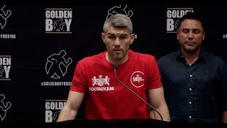 JAMIE MUNGUIA v LIAM SMITH - FINAL PRESS CONFERENCE (FROM LAS VEGAS) / MUNGUIA-SMITH - SAT 21 JULY