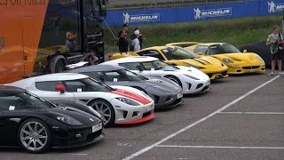 EPIC Supercar Line-up: Agera, MC12, 918, P1, Zonda S, F50
