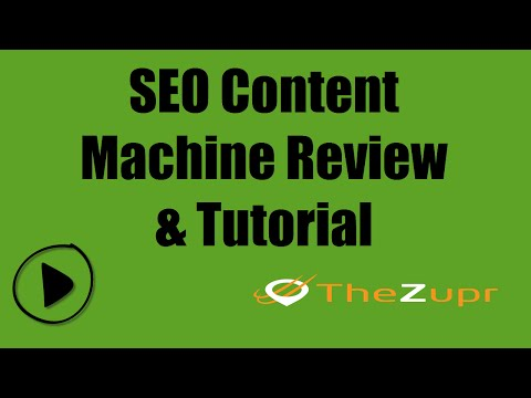 SEO Content Machine Review & Tutorial- Complete 2015 Overview