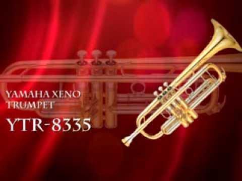 YAMAHA YTR 8335 PROFESSIONAL Bb XENO TRUMPET, METAL VALVE GUIDES, GOLD  LACQUER FINISH