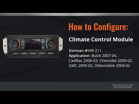 HVAC Control Module Configuration Video By Dorman Products