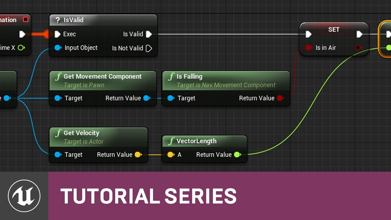 BP 3rd Person Game: Animation BP EventGraph | 11 | v4 8 Tutorial Series |  Unreal Engine