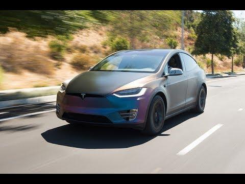 Insane Brushed Color Shift Securmatics Tesla P90d Sd Wrap