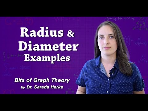 Graph Theory: 52. Radius and Diameter Examples