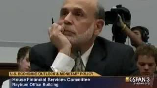 Ron Paul vs Bernanke: Is Gold Money? Banks, Corporation Bailouts, State of Economy, Kleptocracy
