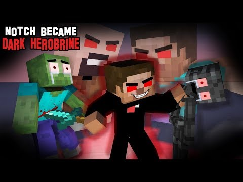 Monster School : NOTCH BECAME DARK HEROBRINE - RIP ALL MONSTERS