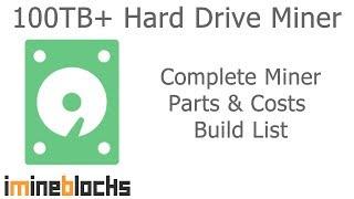 100TB+ Burstcoin HardDrive Miner Build List