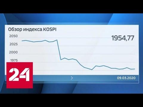 Провальное падение: потрепанные вирусом мировые рынки не выдержали нового удара - Россия 24