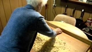 Grandma Making Homemade Semolina