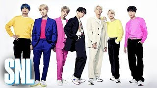 "Musical guest BTS performs ""Boy with Luv"" on Saturday Night Live. #SNL #EmmaStone #BTS #SNL44 Subscribe to SNL: https://goo.gl/tUsXwM Get more SNL: ..."