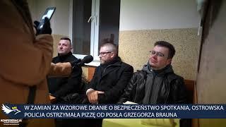 Policja w Ostrowi Mazowieckiej otrzymała pizzę od posła Grzegorza Brauna