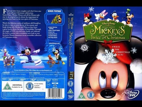 Start Of Disney S Mickey S Twice Upon A Christmas Film 2004 Dvd Uk Youtube