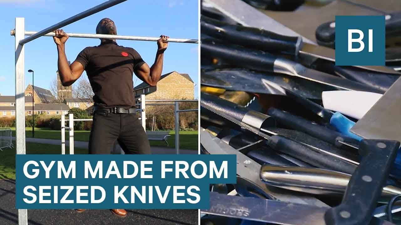 This Gym Is Made From 2 Tonnes Of Seized Knives