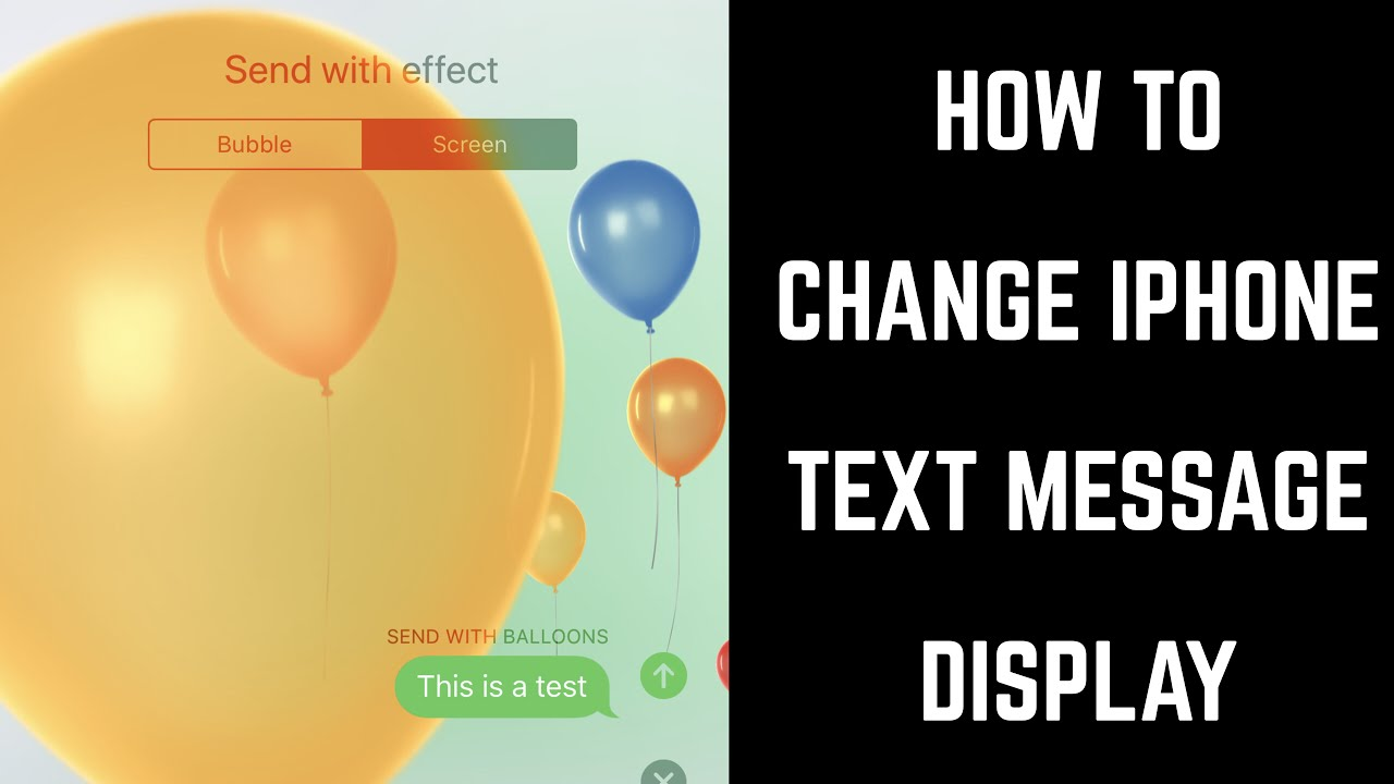 How to Change iPhone Text Message Display