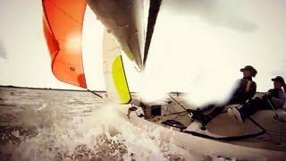 RS Feva sailing 20-35 Knots- GoPro
