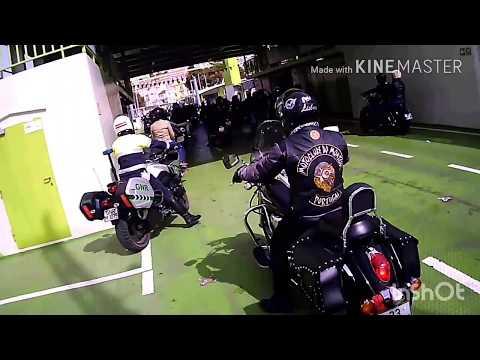 Chegada a Setúbal ida para a festa. Harley Riders Setúbal