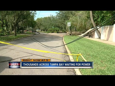 Thousands across Tampa Bay waiting for power
