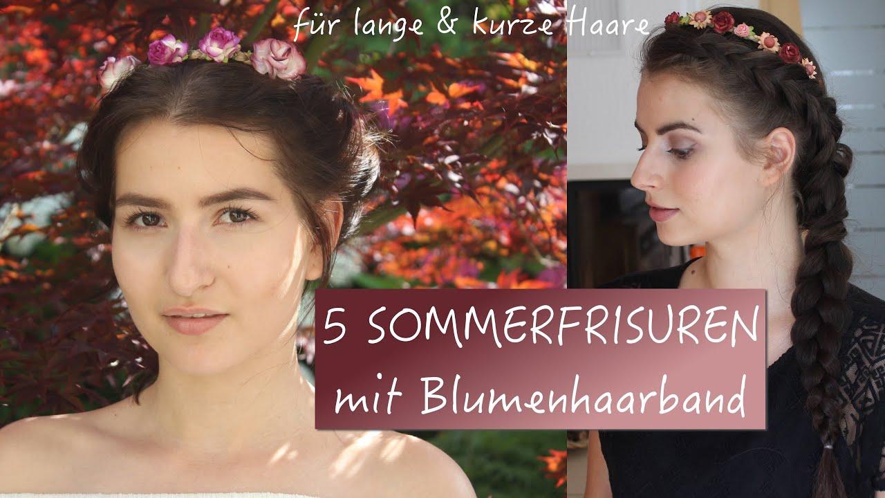 Einfache Frisuren Für Den Sommer Frisuren Mit Blumenhaarband Für