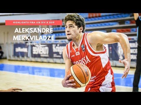 Aleksandre Merkviladze Highlights Georgia (FIBA U18 Europe Div B) 2019