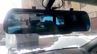 Обзор китайского зеркала со встроенным видеорегистратором