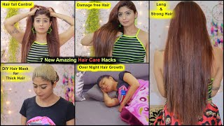 7 NEW HAIR CARE HACKS To Stop Hair Fall, Damage Hair & Thick Hair Permanently