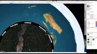 The Astro-Plate, Luminaries and Ecliptic in the Flat Earth Model.