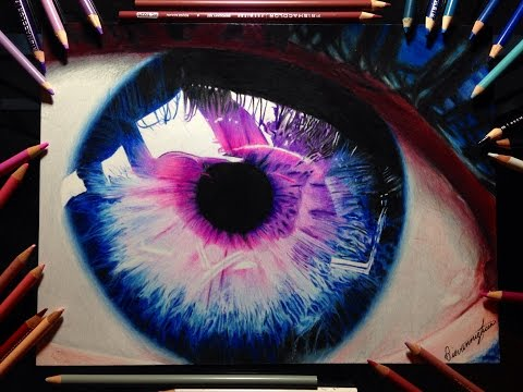 Realistic Eye Drawing Timelapse
