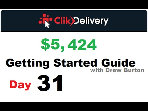 ClikDelivery review day 31 2016 Click Delivery calculator with Drew Burton