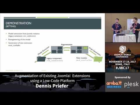 Augmentation of Existing Joomla! Extensions using a Low-Code Platform - Dennis Priefer