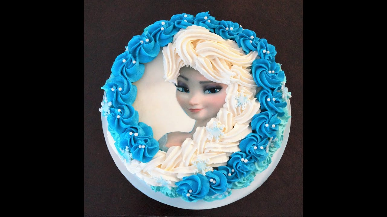 Elsa Cake Decoration Ideas : Cake decorating tutorial How to make Elsa buttercream ...
