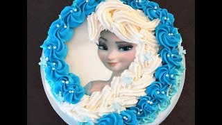 Cake decorating tutorial | How to make Elsa buttercream cake | Sugarella Sweets