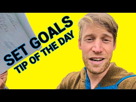 Set Goals - Tip of the Day