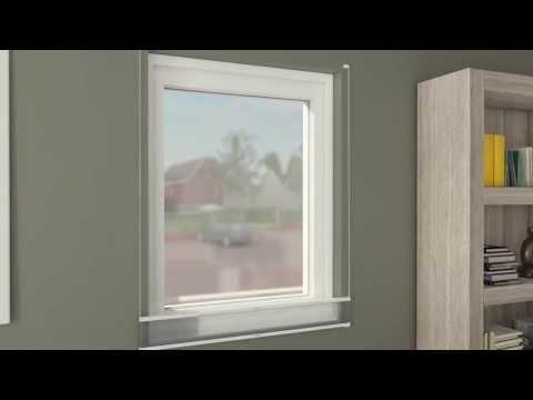 Vaegmontering / Tensioned pleated blind wall bracket mounting
