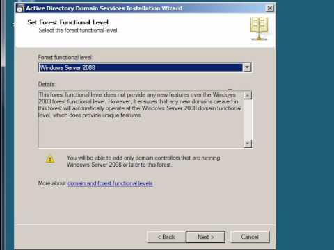 Windows Server 2008: Create An Active Directory Domain Controller