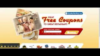 Free Printable Restaurant Coupons *fresh* 2013(Get Coupon Here: http://www.latesthackingsoftware.com/Coupons Join Today for free and Get Printable Restaurant Coupons to your email to hundreds of Top ..., 2012-04-12T01:42:28.000Z)