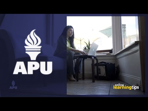Week 1 In The Online Classroom: How To Be Successful | American Public University (APU)