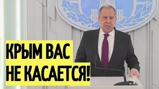 Жесть! Лавров ПОВЕРГ В ШОК Запад и Украину своим заявлением по Крыму
