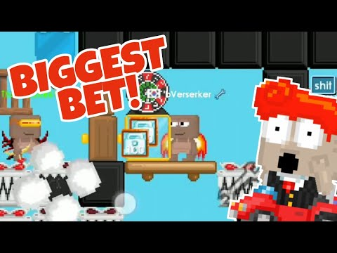 BIGGEST BET IN CASINO 600DL! (GROWTOPIA)